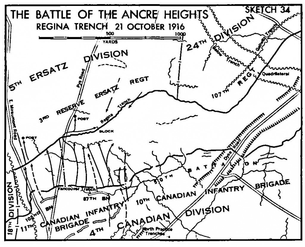 Map of Ancre Heights, 1916
