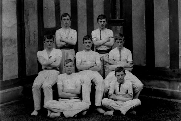 The Gymnasium VIII, 1903. Arnold Bloomer is seated in the centre of the middle row.