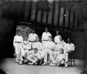 The 1st XI, 1907. Henry Wilson is seated third from the right.
