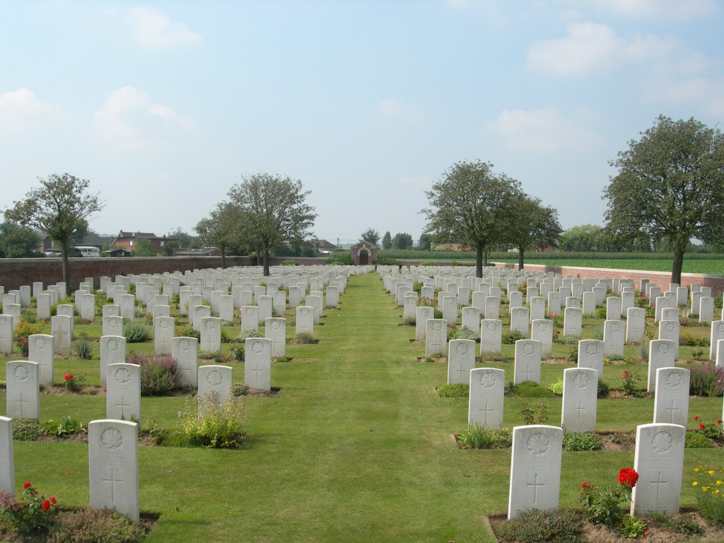 Reninghelst New Military Cemetery, south-west of Ypres