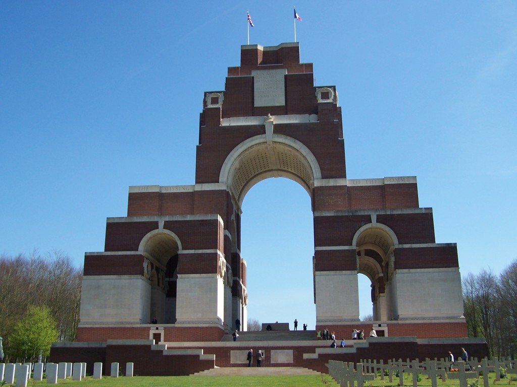 The Thiepval Memorial to the Missing on Bapaume-Albert road