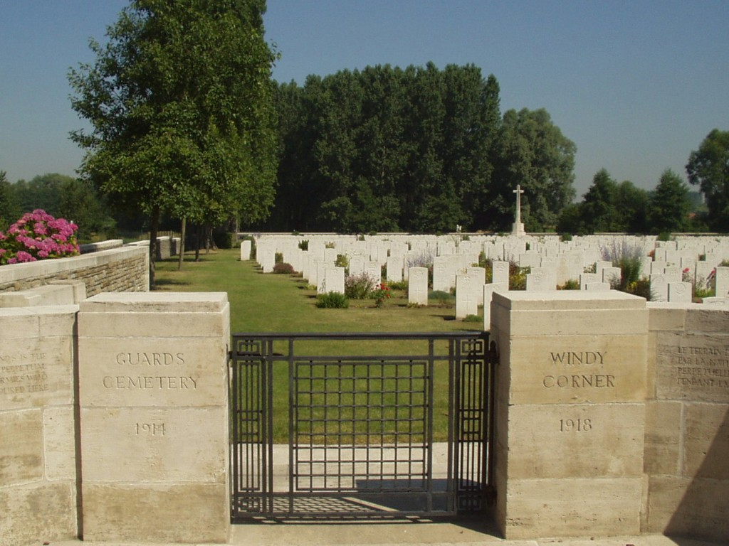 Guards Cemetery, Windy Corner, Cuincy. (Marietta Crichton Stuart)